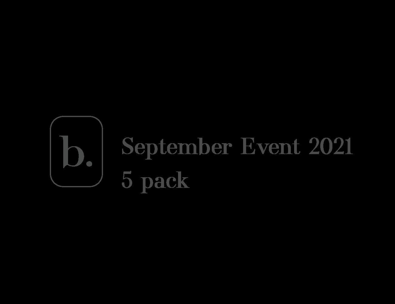 bio 2021 event - 5 pack