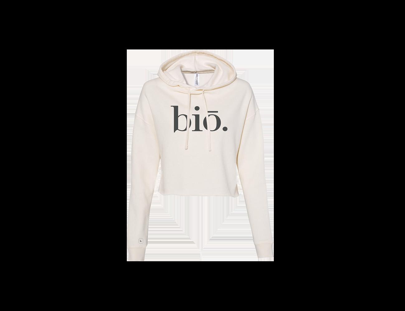 bio cropped hoodie | bone